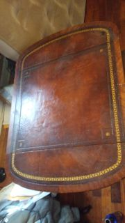 Leather top table 1960