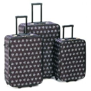 $199.95 Stylish Skull Luggage Trio