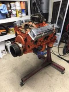 350 Chevy engine with stand