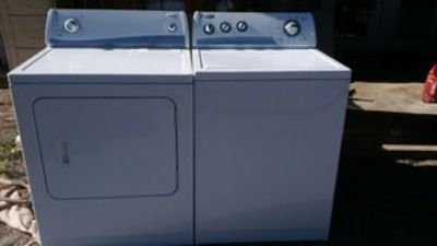 whirlpool washer and Amana by whirlpool electric dryer