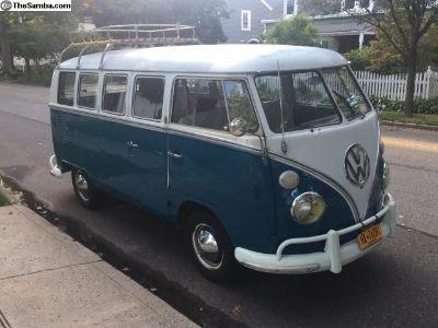 1966 13 window sea blue