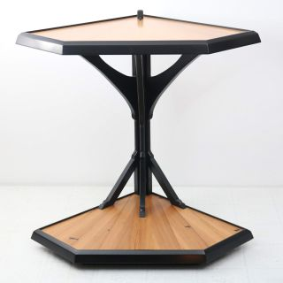 Drewmh side table in black, contemporary. Modern s