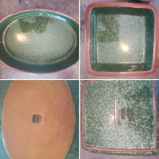 Oval and Square Stoneware