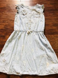 Carters jean palm tree distressed dress size 6