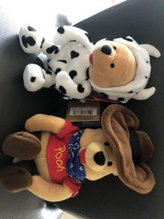 Collector Cow and Cowboy Pooh Bears