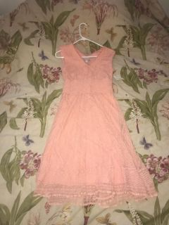 New with tags ($46) beautiful coral lace dress barn dress size 4