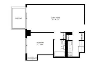 Beautiful Convertible 2 bedroom apartment