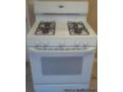 White GE Gas Stove