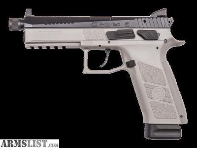 For Sale: CZ P09 Gray Frame Threaded Barrel and Night Sights