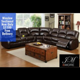 WINSLOW RECLINER SECTIONAL FREE DELIVERY