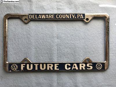 Dealer plate frame