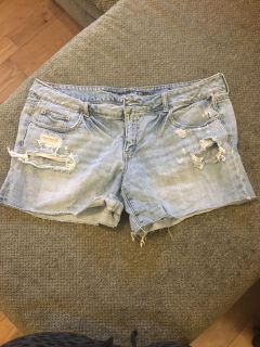 American eagle distressed jeans shorts size 18