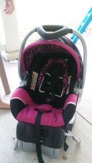 Baby girl infant car seat