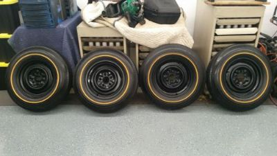 Sell 1965 1966 Corvette GM Wheels and Goldline Silvertown Tires Set of 4 motorcycle in Inver Grove Heights, Minnesota, United States, for US $1,750.00