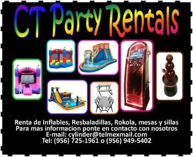 CT Party Rentals Table,chairs, moonwalks, water slide, and more (Laredo)