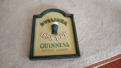 Dubliner Guiness Irish Pub Beer Sign