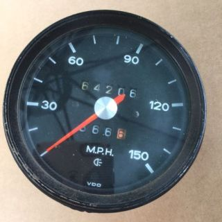 Sell 70-74 Porsche 914/911 150MPH Speedometer - Part# 914 641 505 020 - Dated 4/73 motorcycle in La Mesa, California, United States
