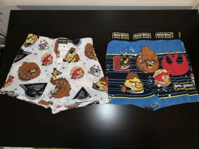 Star Wars, angry bird boxers size 6