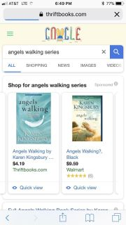 Angels Walking book. Either cover is fine.