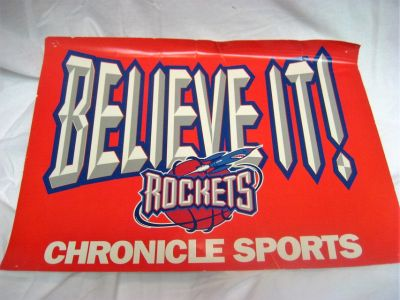 Collectible Houston Rockets NBA Newspaper Sign Publication 1996 2nd Championship