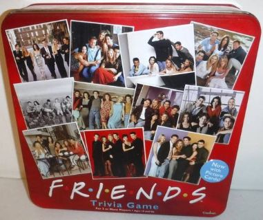 New! Friends Trivia Board Game in red collectible Tin