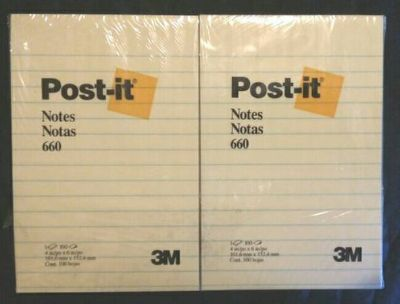 "24 Post-it Notes 4"" 6"" Lined Pads"