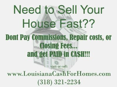 Sell you house in Days, not Months (Caddo, Bossier, Desoto)