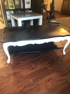 Black and White Wood Coffee Table