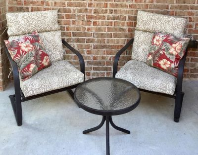 3pc. Outdoor Patio/Porch Set with Cushions