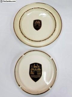 2 Original Wolfsburg Porcelain Ash Trays