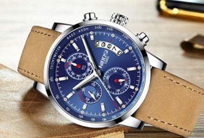 Mens Watches Leather Analog