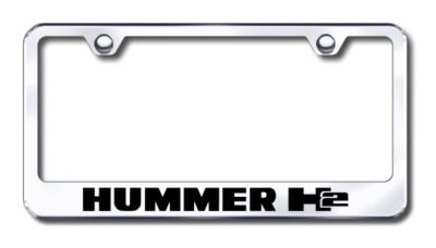 Buy GM Hummer H2 Engraved Chrome License Plate Frame Made in USA Genuine motorcycle in San Tan Valley, Arizona, US, for US $30.98