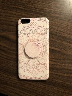 iPhone 6s Plus case and pop socket
