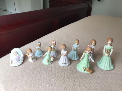 Growing up Birthday Girls collectibles