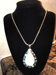 Costume Jewelry Teardrop Necklace