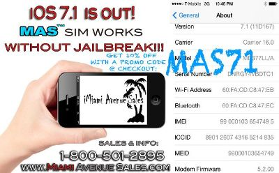 $20, iPhone Unlock Solutions for Retail and Wholesale NO JAILBREAK NEEDED  iOS 7.1 and below