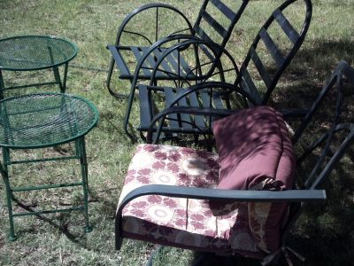 CHAIRS ROCKER SIDE TABLES