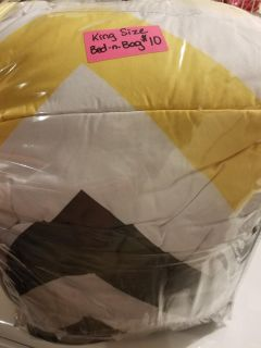 Chevron King size Bed in Bag