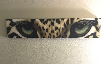 Leopard Eyes Canvas Art