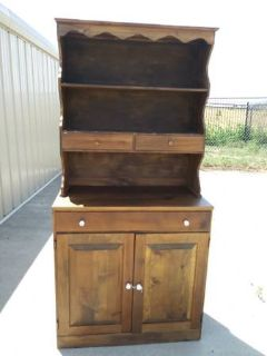 Solid Wood Dining Hutch / China Cabinet