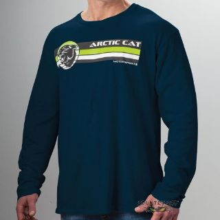 Sell Arctic Cat Men's Retro Long Sleeve Vintage Cotton T-Shirt - Navy Blue - 5273-54_ motorcycle in Sauk Centre, Minnesota, United States, for US $37.99