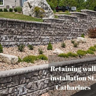 Retaining wall installation Niagara
