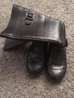 Girl leather boots