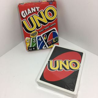 New, GIANT UNO Giant Size Game Cards