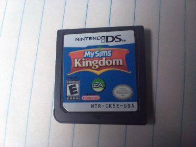 Nintendo DS game cartridge. My Sims Kingdom. I have more DS games. Check my page.