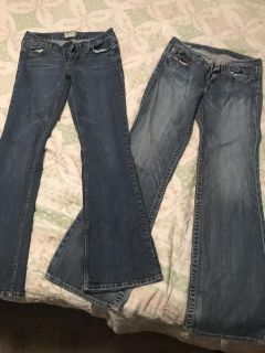 Two pair of jeans one like new Sz 5/6&29L
