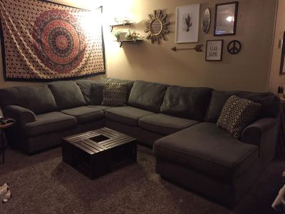 Large gray sectional