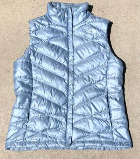 Womens North Face 550 Puffy Vest Shinny Blue