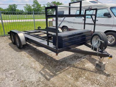 H&H 18' dovetail car hauler trailer