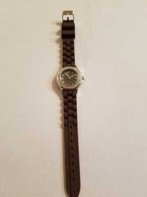 Brown Rubber Band Watch